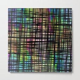Colorful striped DP035-4 Metal Print