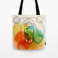 bear Tote Bags featuring Bear by Alvaro Tapia Hidalgo