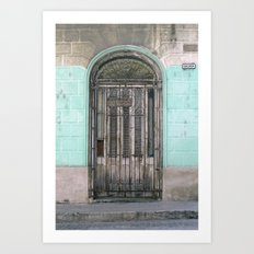 Shuttered Door  Art Print