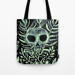 skull in leaves Tote Bag