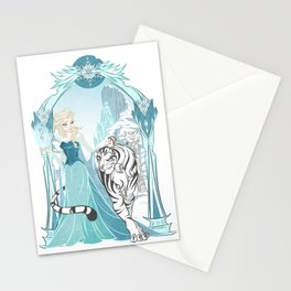 Frozen White Tiger Stationery Cards