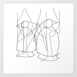 Metaphysical Penguin Tree of Life Art Print