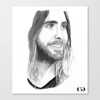 jared leto Canvas Prints featuring Jared Leto by Art by Cathrine Gressum