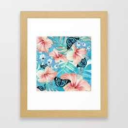 Tropical Spring Aqua Framed Art Print