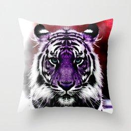 Magenta Roar Throw Pillow