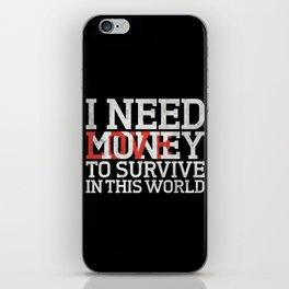 Money & Love iPhone Skin