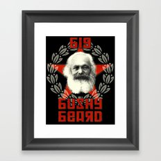 Big Bushy Beard Framed Art Print
