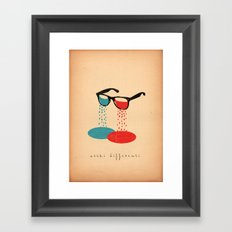occhi differenti Framed Art Print