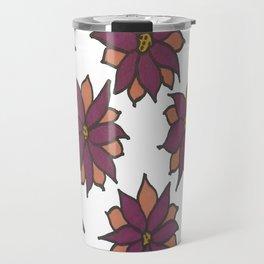 Holiday Two-Toned Flowers Travel Mug