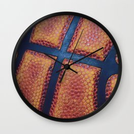 Basketball close-up Wall Clock
