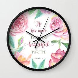 He Has Made Everything Beautiful, Ecc 3:11 Wall Clock