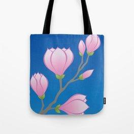 Purple Magnolia Flowers Tote Bag