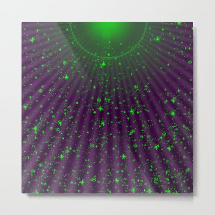 green small stars Metal Print