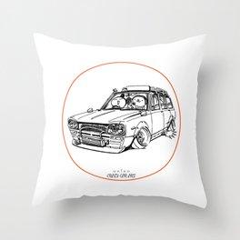 Crazy Car Art 0186 Throw Pillow