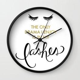Lash Drama Wall Clock