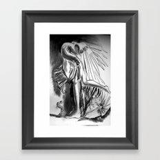 A strange bird Framed Art Print