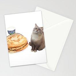 Pancake cat Stationery Cards