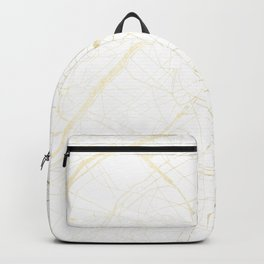 Paris Gold and White Street Map II Backpack