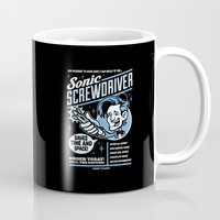 sonic Mugs featuring Sonic Screwdriver by harebrained