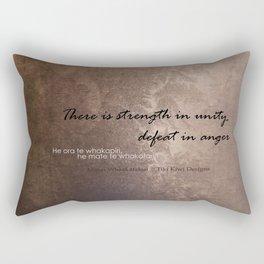 Strength in Unity - Defeat in Anger - Maori Wisdom - metalic Rectangular Pillow