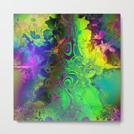 Color Explosion Psychedelic Abstract Art  Metal Print
