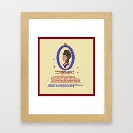 Grandma's Recipe for Sauerkraut Framed Art Print