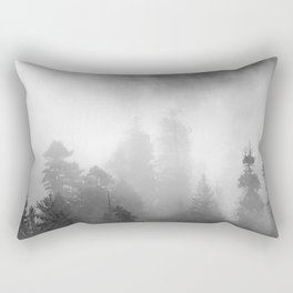 Harmony - Misty Mountain Forest Nature Photography Rectangular Pillow