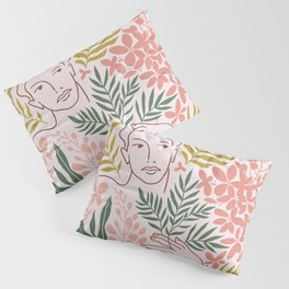 Wild tropical young woman Pillow Sham