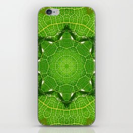 kaleidoscope image of leaf iPhone Skin