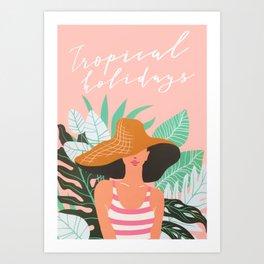 Summer Beach Tropical Vacation Holidays Art Print