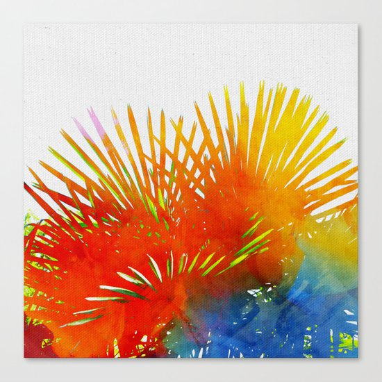 Enchanted Palm Leaves Canvas Print