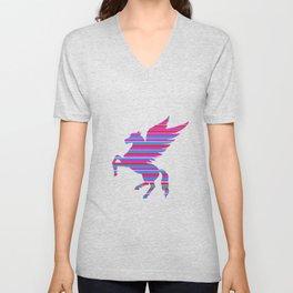Pegasus Stripes Unisex V-Neck