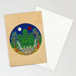 Minhwa: Sun, Moon and 5 Mountains: King's painting C_1 Type Stationery Cards