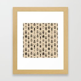 Old-fashioned Bugs Framed Art Print