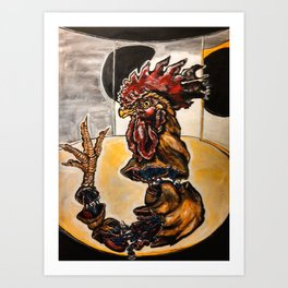 Space Rooster Art Print