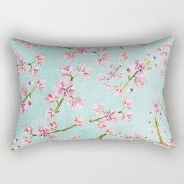 Spring Flowers - Cherry Blossom Pattern Rectangular Pillow
