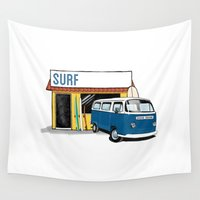 surf Wall Tapestries featuring Surf by Blake Smisko