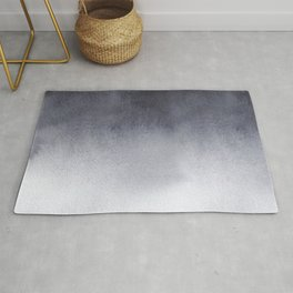Grey Watercolor Tie-dye Rug