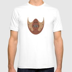 THE SILENCE OF THE LAMBS MEDIUM White Mens Fitted Tee