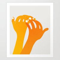 hands Art Prints featuring hands by alex eben meyer