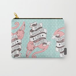 Boys Whatever, Cats Forever motto Carry-All Pouch