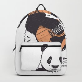 Guitar Panda Cute Animal Backpack