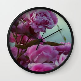 Roses by the lake #society6 Wall Clock