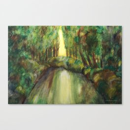 Trees and creek - Original painting Canvas Print