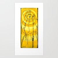 fitzgerald Art Prints featuring Ella Fitzgerald by Cristina Curto
