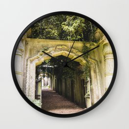 Highgate Cemetery, London - West Cemetery Wall Clock
