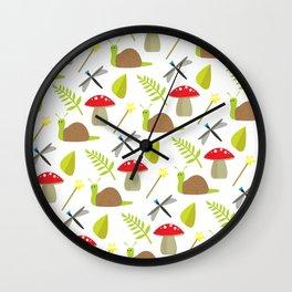 Fairy Garden Pattern 1 Wall Clock