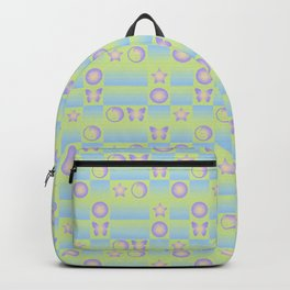 Checkered Symbols (YIN YANG/BUTTERFLY/SMILEY FACE/STAR) Backpack