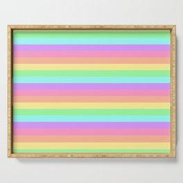 Pastel Rainbow Stripes Serving Tray