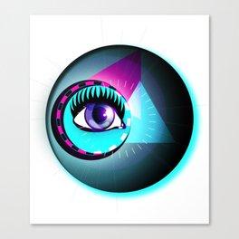 Halftone Eyeball Canvas Print